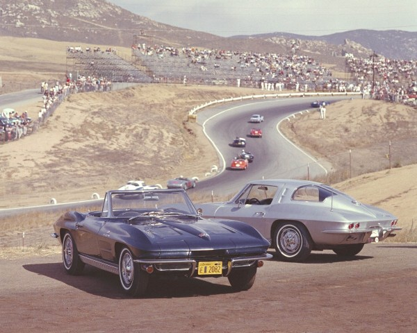 1963 Corvette's at the Laguna Seca Raceway