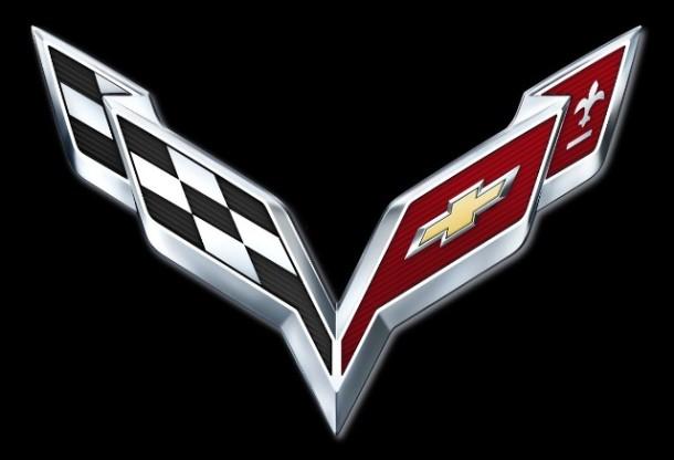 Crossed Flags logo for the new 2014 Corvette