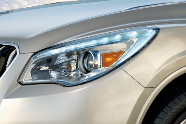 The 2013 Buick Enclave comes with standard signature LED daytime running lights and HID headlamps
