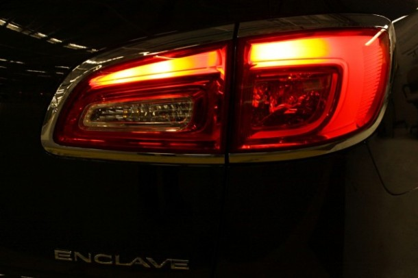 The 2013 Buick Enclave's new taillights