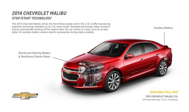 2014 Malibu Start Stop Tech
